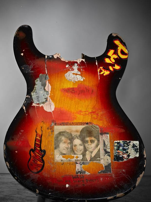 The first guitar Cobain ever smashed.